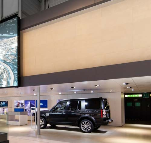 Finished projects: Jaguar Land Rover Auto Show, Geneva - custom polished plaster