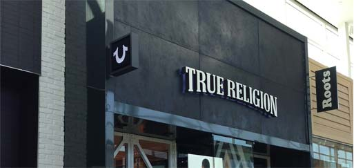 Finished projects: True Religion, Yorkdale Toronto - Armuralia