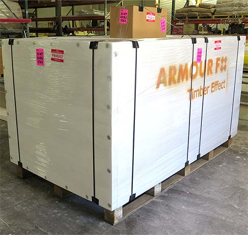 Shipping: Custom packaging of Timber Effect Panels
